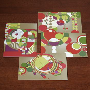 Frank Lloyd Wright Holiday Spheres Greeting Cards Festive