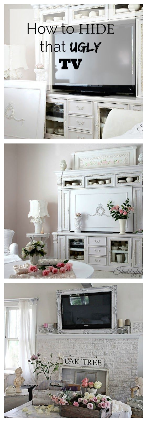 How To Hide That Ugly TV!   television cabinet I tv cabinet I frame a tv I customize a tv cabinet