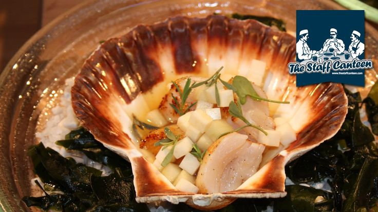 Russell Bateman Creates A Hand Dived Scallops With Seaweed Dashi Recipe -- Watch Staff Canteen create this delicious recipe at http://myrecipepicks.com/28005/StaffCanteen/russell-bateman-creates-a-hand-dived-scallops-with-seaweed-dashi-recipe/