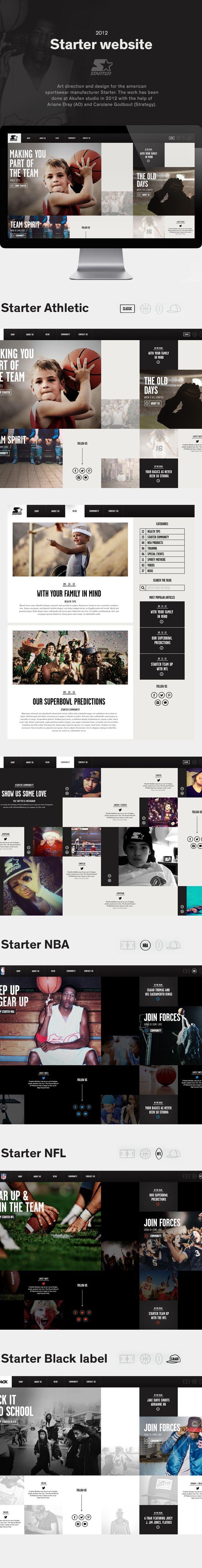 Starter Website on Behance