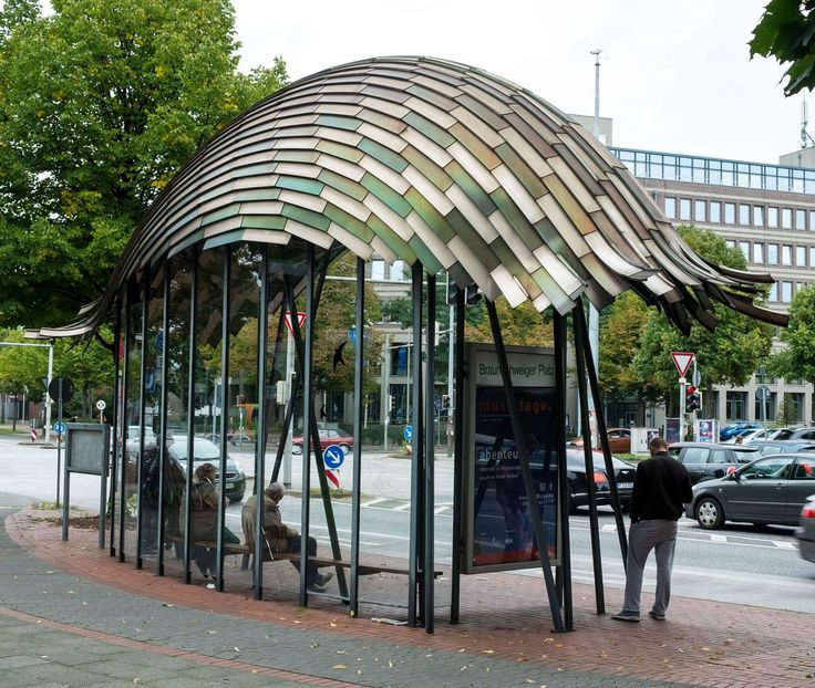 Hannover Germany 1990-1994, Bus Stop Designer-Frank Gehry