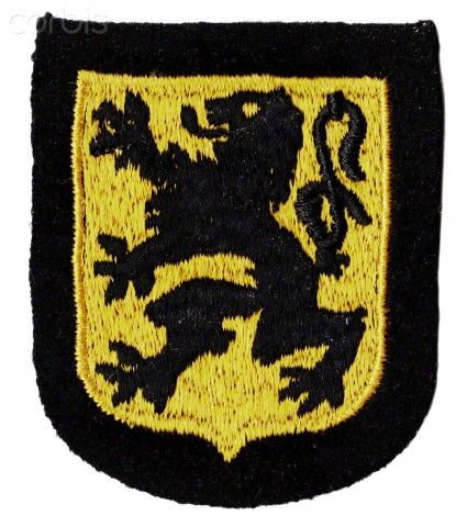 WW2, Nazi Germany, Waffen-SS Flemish/Belgian Legion/27th Langemark Division Sleeve Shield