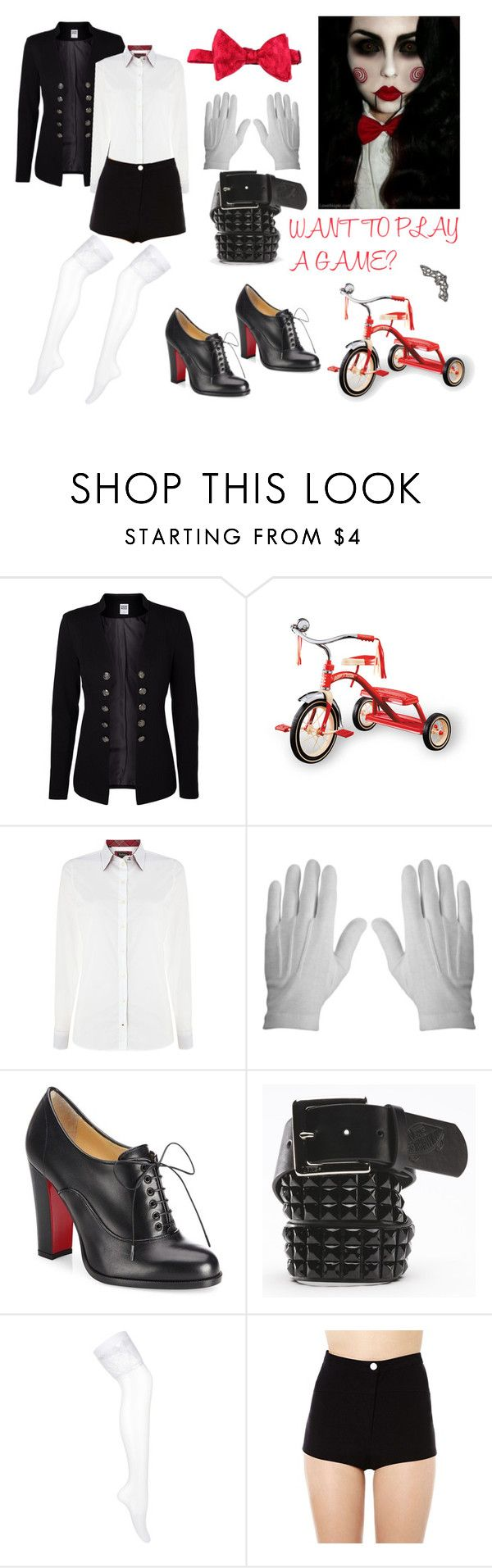 """""""Jigsaw Costume"""" by male-sarmiento ❤ liked on Polyvore featuring Vero Moda, Barbour, Rothco, Christian Louboutin and Vans"""