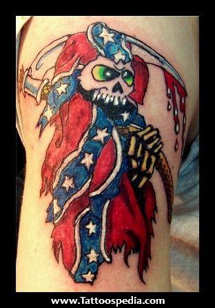 Skull Rebel Flag Drawings Rebel flag skull tattoos
