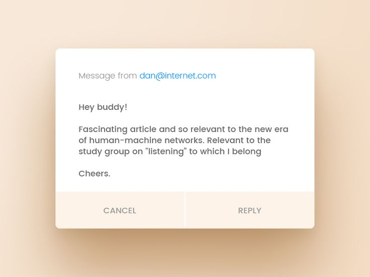 Welcome to Daily UI Elements for 100 days straight (including weekends and holidays).   This is day 099.  My challenge for today is a Message Notification modal.  I invite you all to rebound this s...