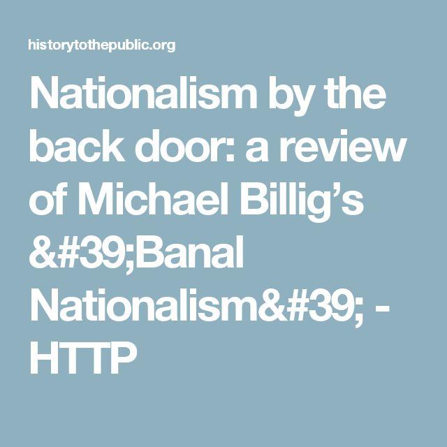 michael billig banal nationalism pdf
