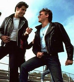 John Travolta & Jeff Conaway (Danny Zouko & Kenickie from 'Grease')