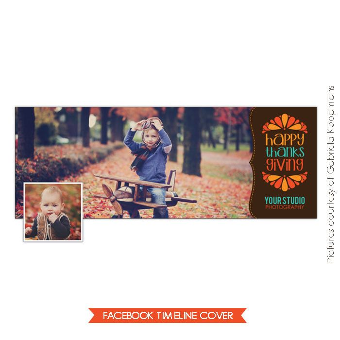 Facebook timeline cover | Thanks banner | Photoshop templates for photographers by Birdesign