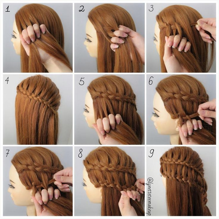 """Dutch four strand ladder braids, check out the braids below. Happy Braiding!☺️ 1.Divide into 4 equal section 2.start braid from the left by under ,over…"""