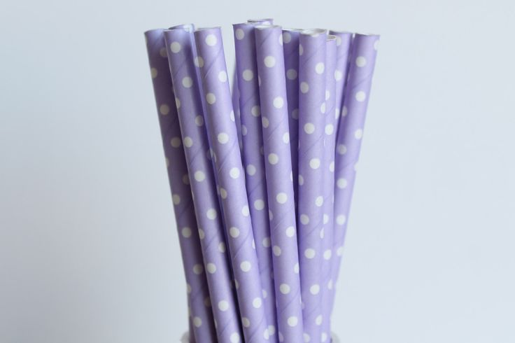 Lavender with Small White Polka Dot Paper Straws-Lavender Straws-Polka Dot Straws-Wedding Straws-Purple Straws-Party Straws-Cake Pop Sticks by CreativeJuiceCafe on Etsy https://www.etsy.com/uk/listing/180821515/lavender-with-small-white-polka-dot