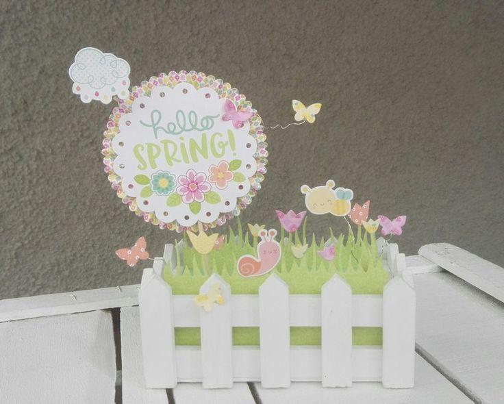 """HELLO+SPRING!""HOME+DECOR - Scrapbook.com #hellospring #homedecor #springdecor #springhomedecor #doodlebugdesign #doodlebugdesignspringthings #lawnfawn #lawnfawndies"