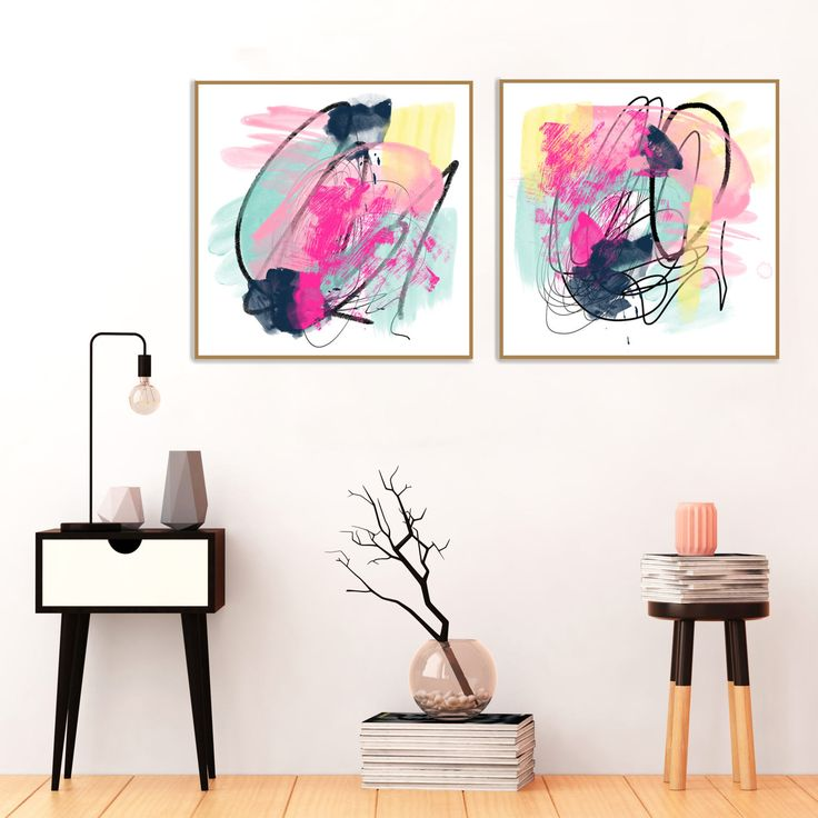 Pink and Blue Abstract Art, #Abstract #Watercolour, #Oil #Pastel #Art, #Large #Contemporary Art #Prints,  #Inspirational #Art, Inspiring Paintings by InspirationAbstracts on Etsy