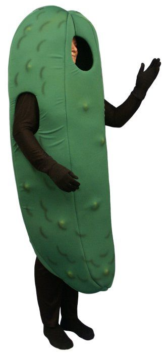 I seriously want to be a pickle for Halloween.