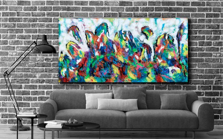 HOME DECOR WITH PAINTINGS !  Diversity III  My website: https://artbylonfeldt.dk/  #art #arts #paintings #painting #fineart #artbylonfeldt