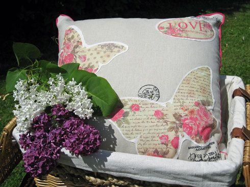 Butterfly Vintage Cushion
