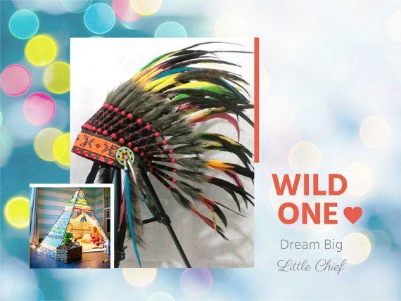 Native American Headdress for kids Indian by TheLandOfCockaigne