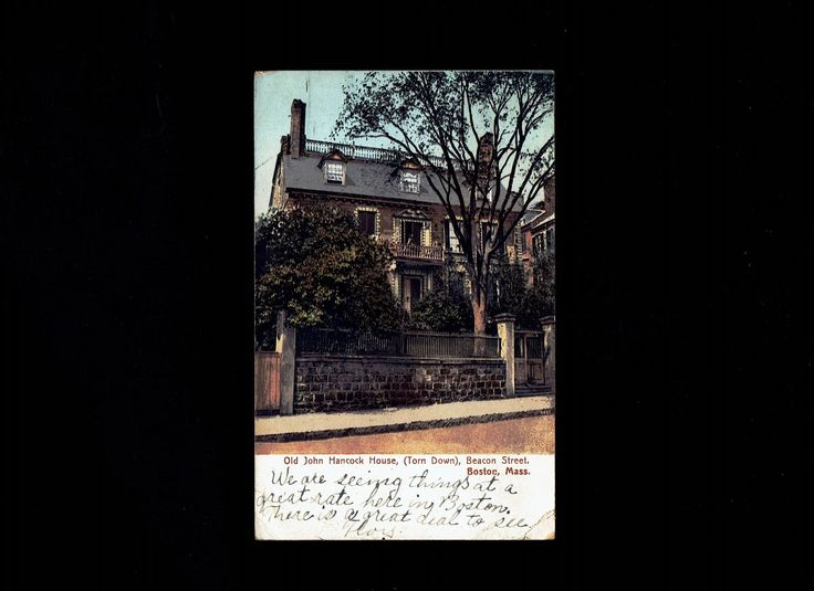 Massachusetts, Boston: Old John Hancock House postmarked Jul 10, 1910 – American News Company – Postcard lot #ma5pc by VicsStamps on Etsy