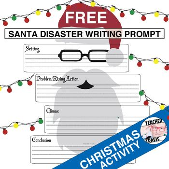 A free, quick, fun Christmas writing assignment that reinforces story elements. #christmasactivities #christmas #teacher #lessonplan #free