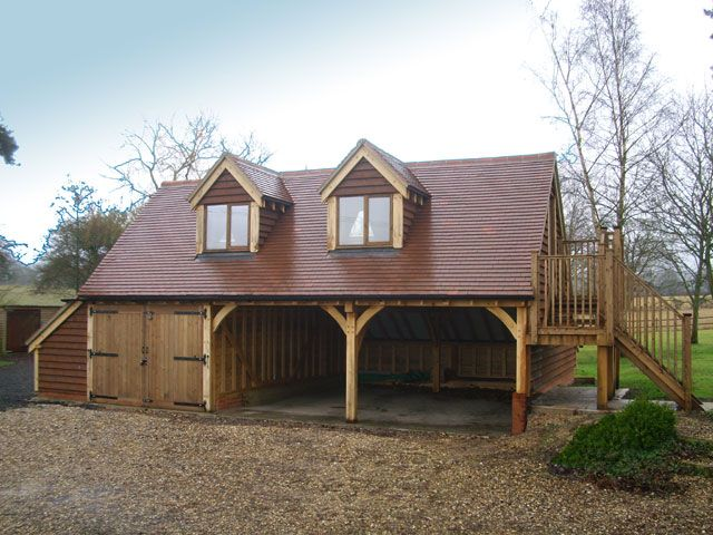 3 Bay Oak Garage With Annexe Above Auto Style