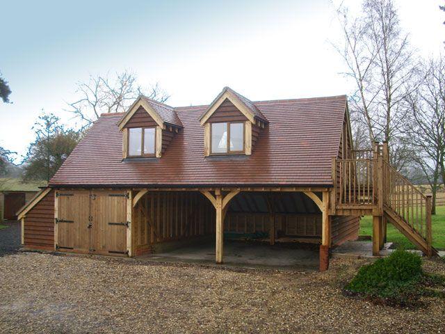 3 bay oak garage with annexe above auto style for Annexe garage