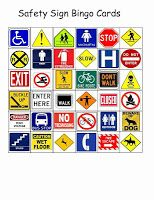 Safety Sign Bingo