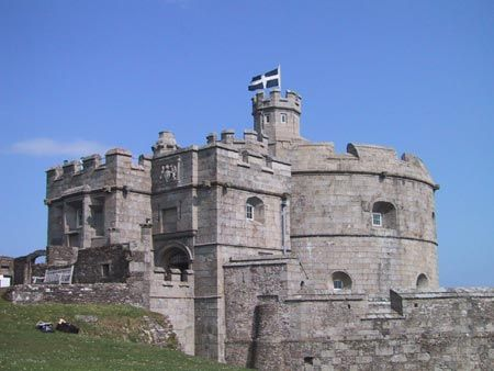 Pendennis Castle, Falmouth, Cornwall, England, UK