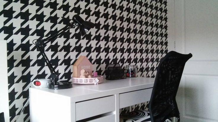 Pied de Poule behang kinderkamer / Wallpaper children's room collection Art of Living - BN Wallcoverings