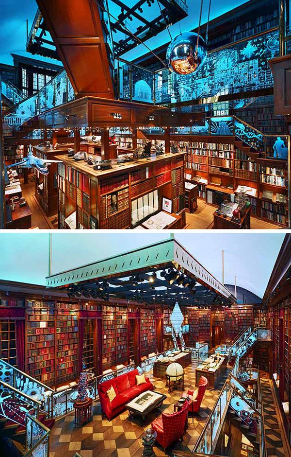 American entrepreneur Jay Walker's private library — so important (and massive) that his house was designed and built around it.