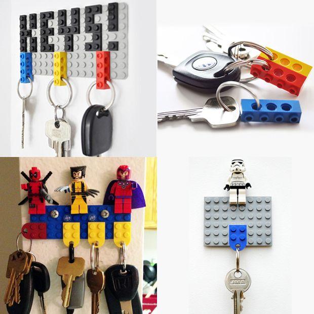 Chaveiro com Lego;