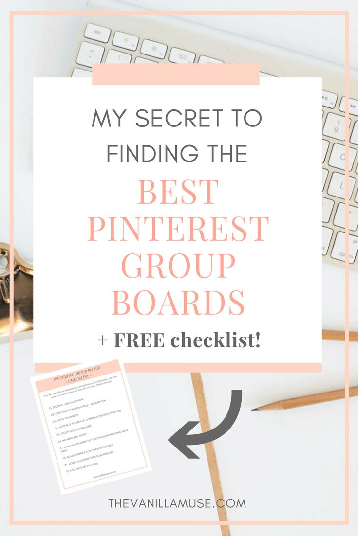 Ever wonder what the secret is to unlocking success on Pinterest? Finding group boards! But not just any Pinterest group boards will work. You need to be strategic in the boards you join. This post shows you exactly what to look for in a group board, where to find the best ones that will drive traffic to your site, and how to join group boards!