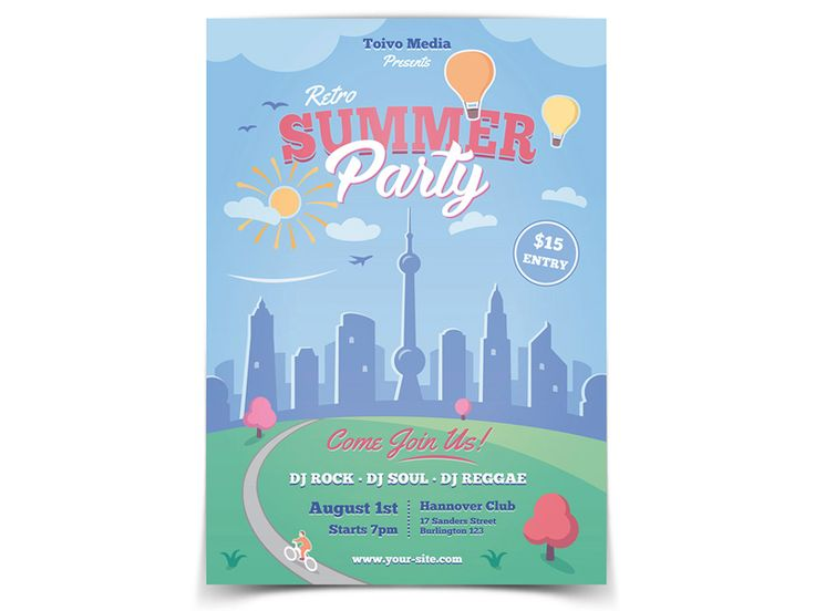 Spring and Summer Flyer Template - buy it here: https://graphicriver.net/item/spring-and-summer-flyer/19693020?ref=ToivoMedia