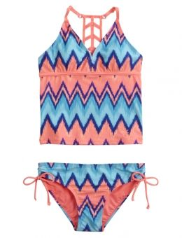 Chevron Stripe Tankini Swimsuit