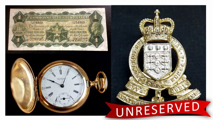 RARE banknotes, coins, antiques and more are all going completely UNRESERVED tonight at 7:00 pm!   A great investment or an excellent opportunity to add a piece of history to your collection