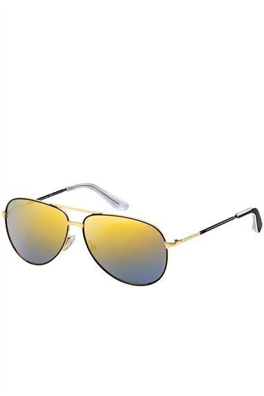 $120, Marc by Marc Jacobs Mirrored Aviator. Sold by Marc Jacobs. Click for more info: https://lookastic.com/women/shop_items/46916/redirect