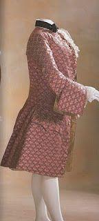 terno de hombre casaca, chaleco y calzon hacia 1760