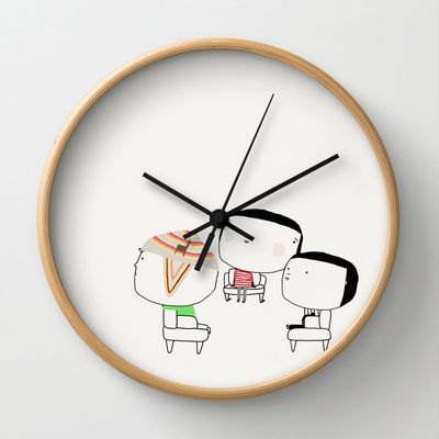 Hector and friends Wall Clock by yael frankel - $30.00