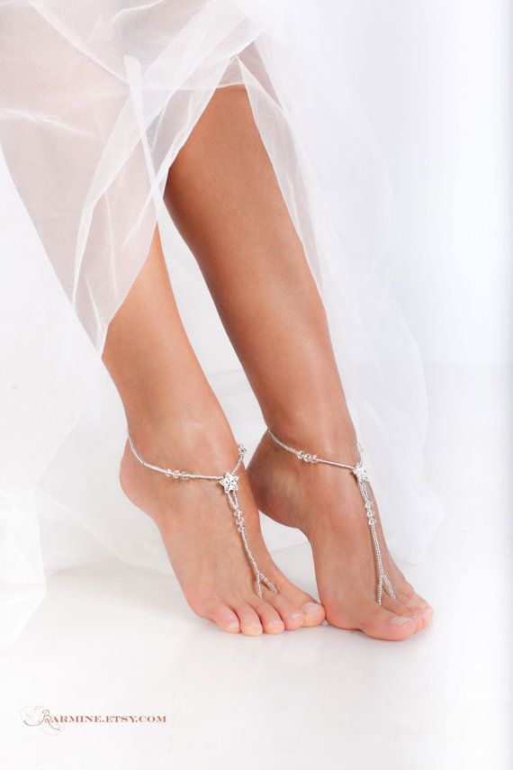 Stardust Barefoot sandals-Bridal foot by barmine on Etsy