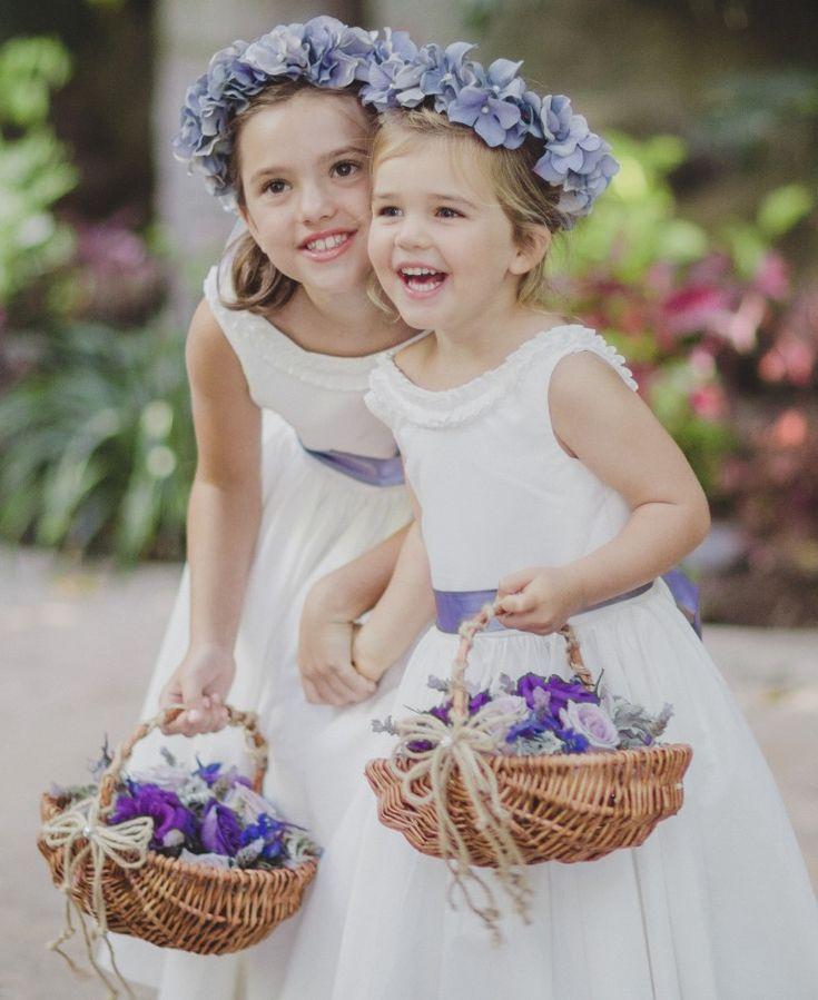 Flower girl flower crowns- how to DIY