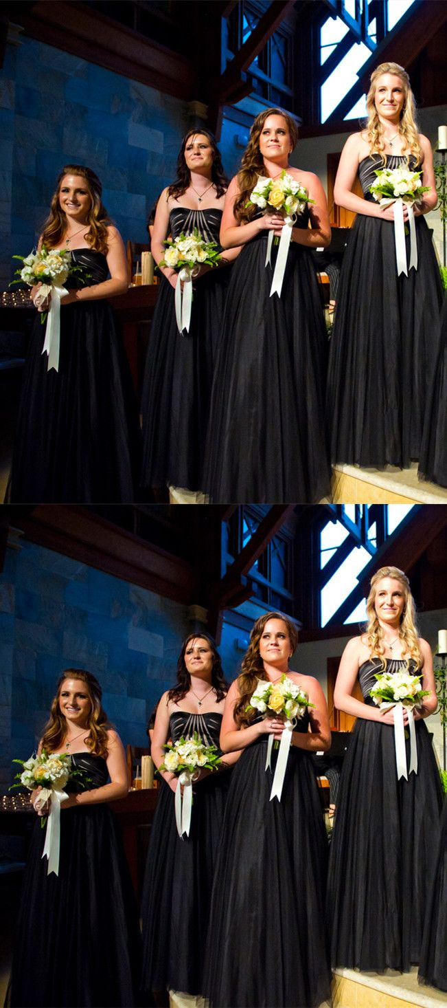 Black wedding party dresses, cheap party dresses, simple  evening gowns.