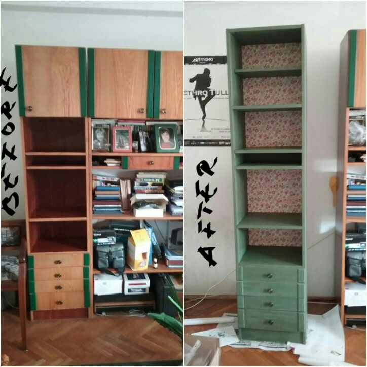 Bookcase repainted