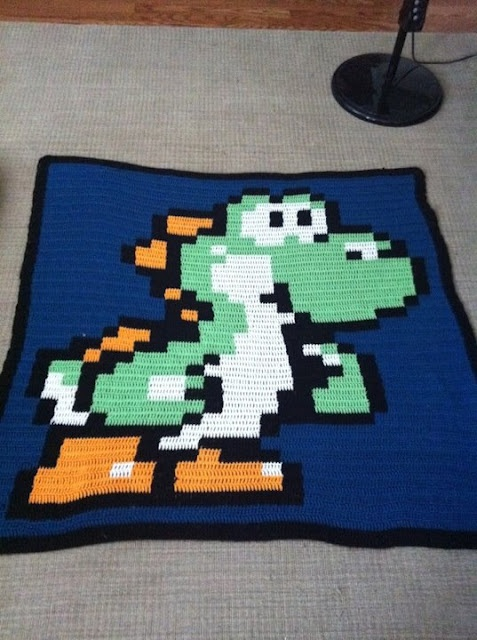 Crochet Pattern For Mario Blanket : 17 Best images about Yoshi and games stuff on Pinterest ...
