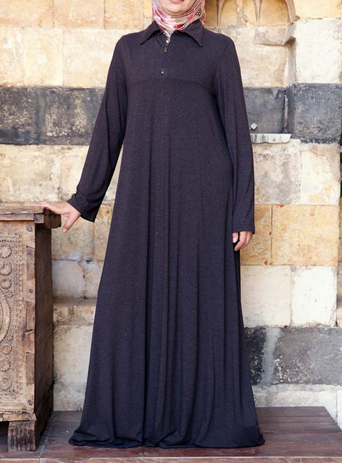 Zipped Flared Abaya