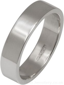 5mm Silver Flat Profile Wedding Ring