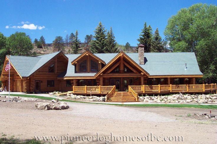 les 75 meilleures images du tableau pioneer log homes sur pinterest maisons en bois cabanes. Black Bedroom Furniture Sets. Home Design Ideas
