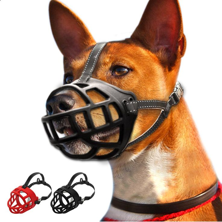 Soft Rubber No Bite Dog Muzzle Mesh Basket Cage Stop Biting Barking Black Red 6 Sizes //Price: $15.99 & FREE Shipping // Get it here ---> thepetscastle.com... #hound #sleeping #puppies
