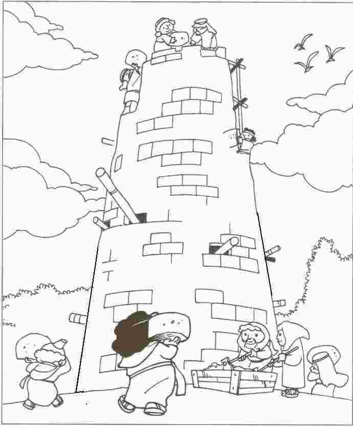 coloring tower of babel for kids   Sunday school kids ...