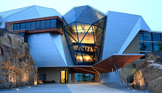 Sparkling Hill Resort, Lake Okanagan, British Columbia Canada (fun fact: Swarovski owns it!)