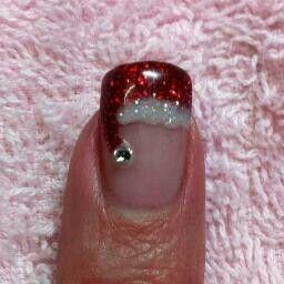 Santa nailsSanta Hats, Holiday Nails, Nailart, Cute Nails, Nails Design, Cute Ideas, Christmas Nails Art, French Tips, The Holiday