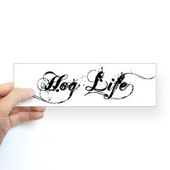 "Black ""Hog Life"" vehicle sticker! Only $5.00! #Razorback #WPS #Arkansas #Hog #Football #SEC"