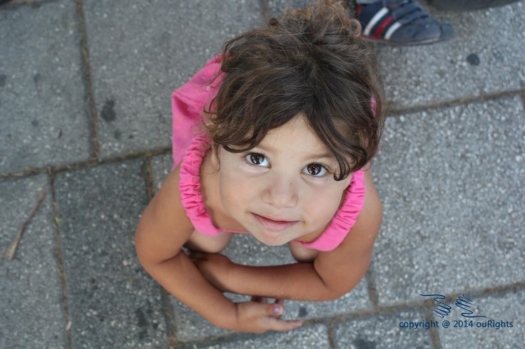 Sad situation, children as young as 3, such as Ester in this photo can often be seen hanging around on the streets asking for money from strangers.